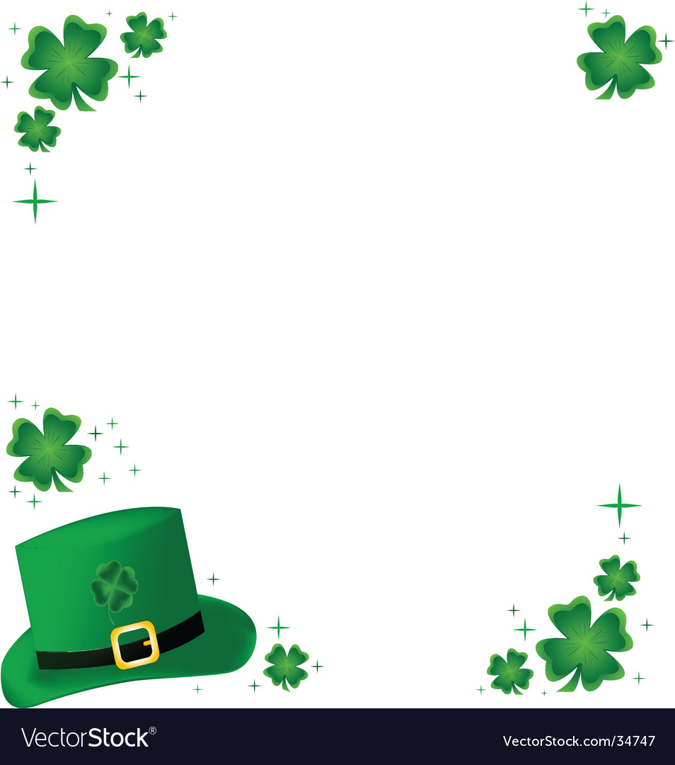 Shamrock Border shamrock frame vector by lyzard914 - image #34747 ...