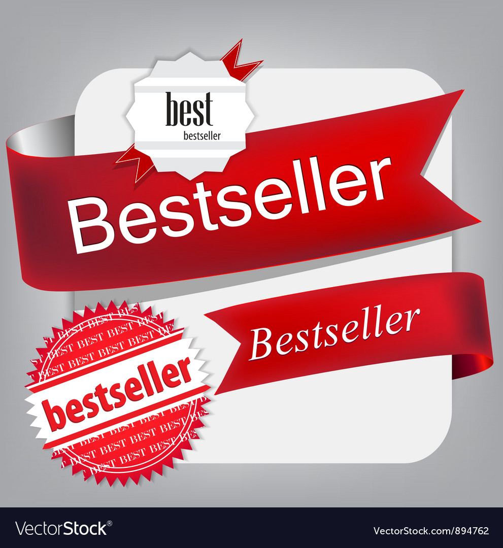 Bestseller red banners vector