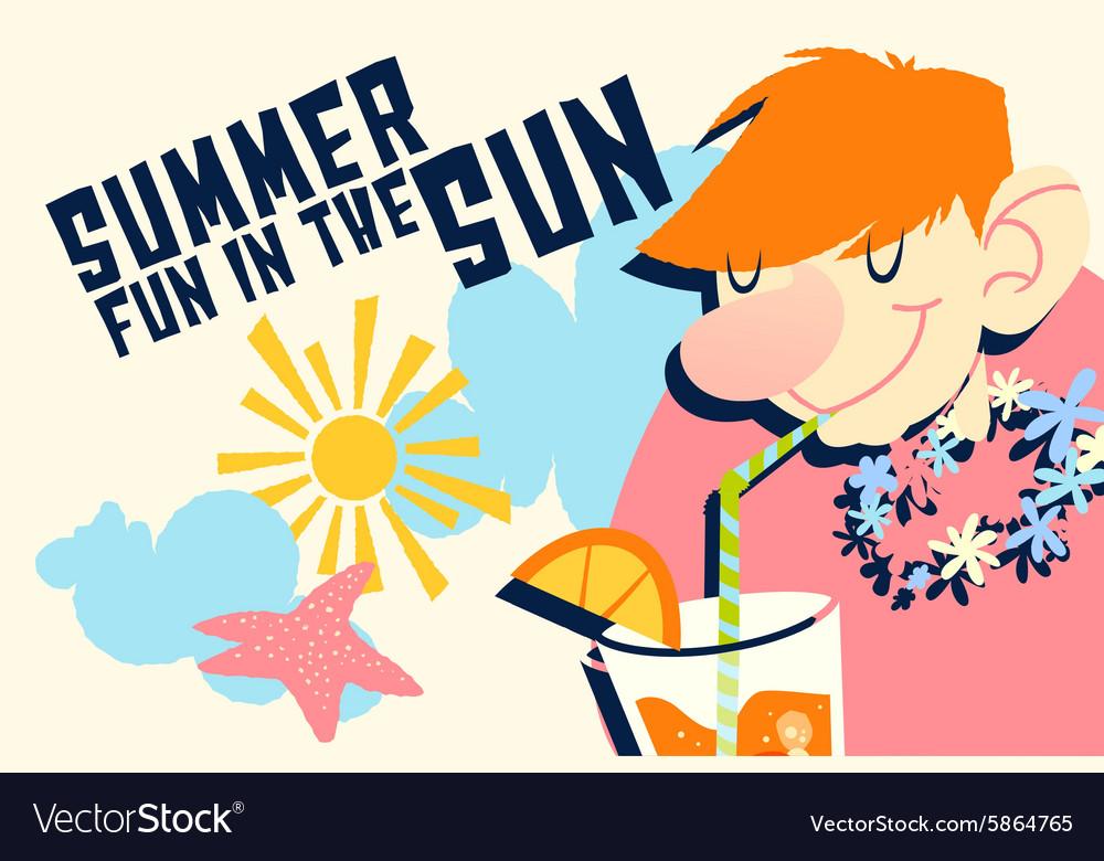 Cartoon summer drink design