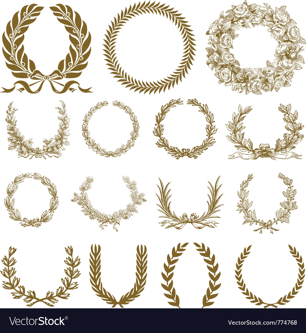 Winner festival wreaths vector