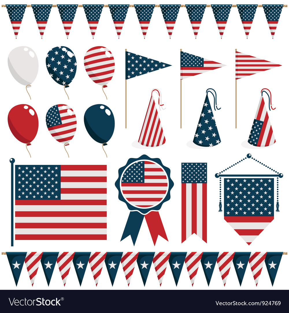 American decorations vector