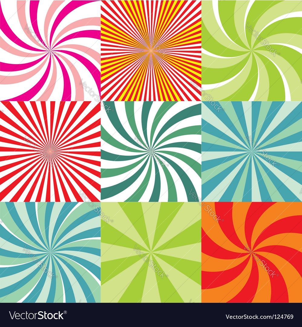 Radiant backgrounds vector