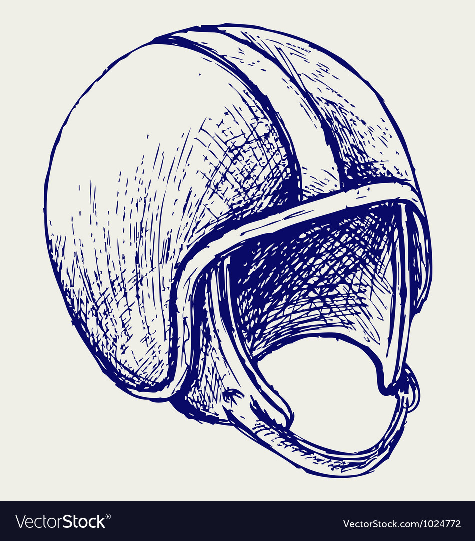 Retro helmet vector