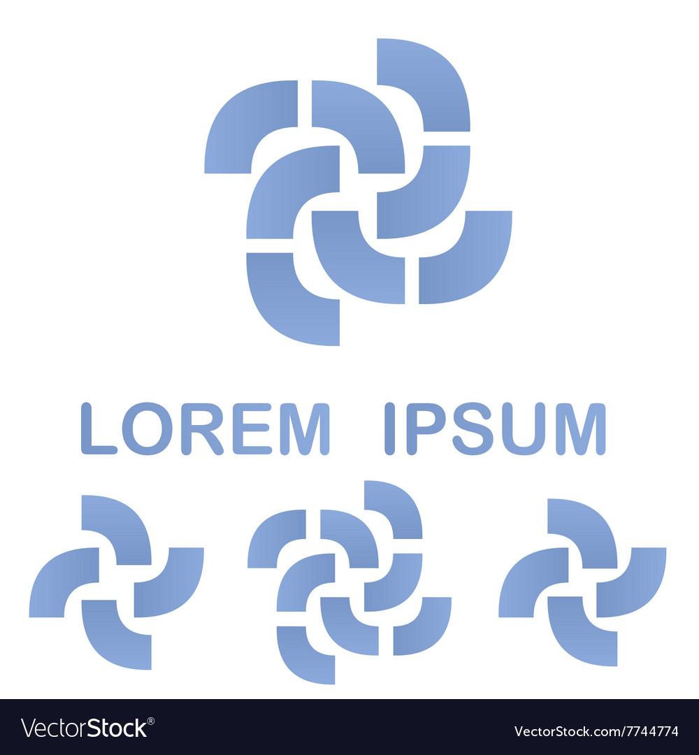 Light blue business logo design template set