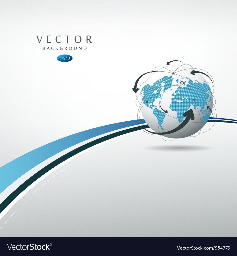 Globe connections concept design vector