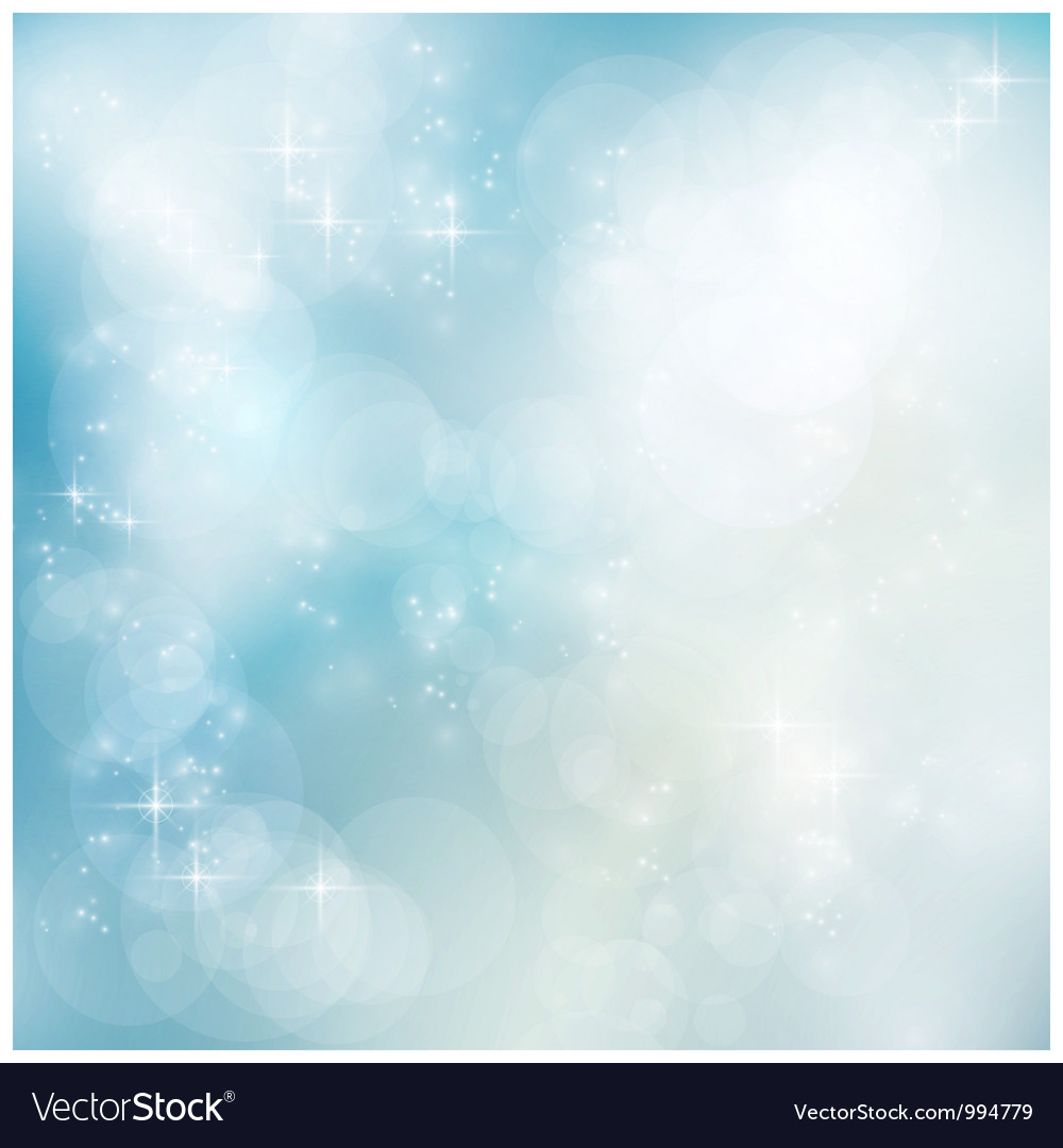 Silver blue winter christmas bokeh vector