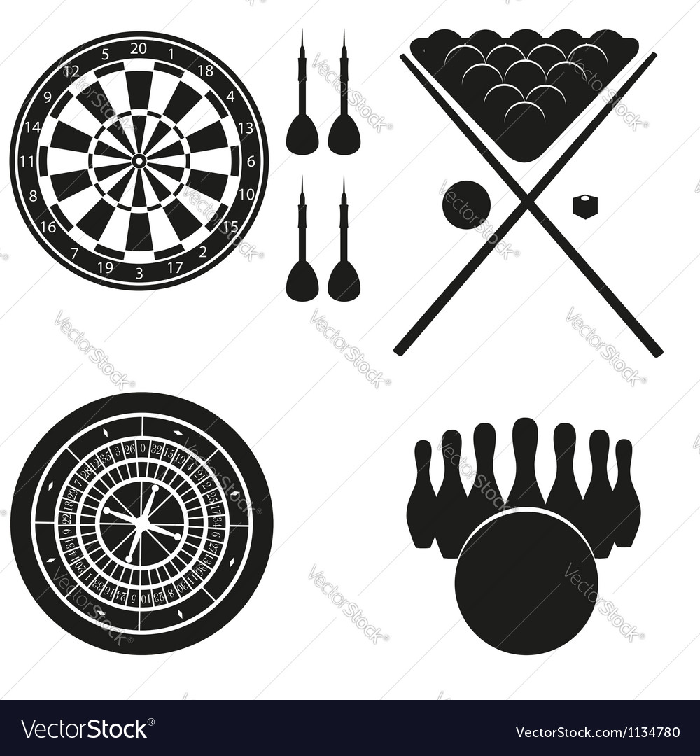 Icon of games for leisure black silhouette vector