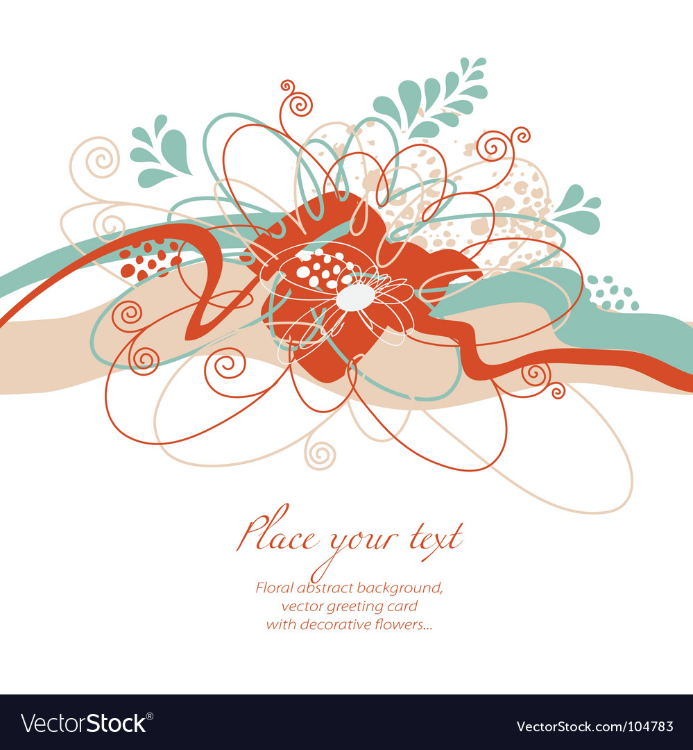 Floral composition vector