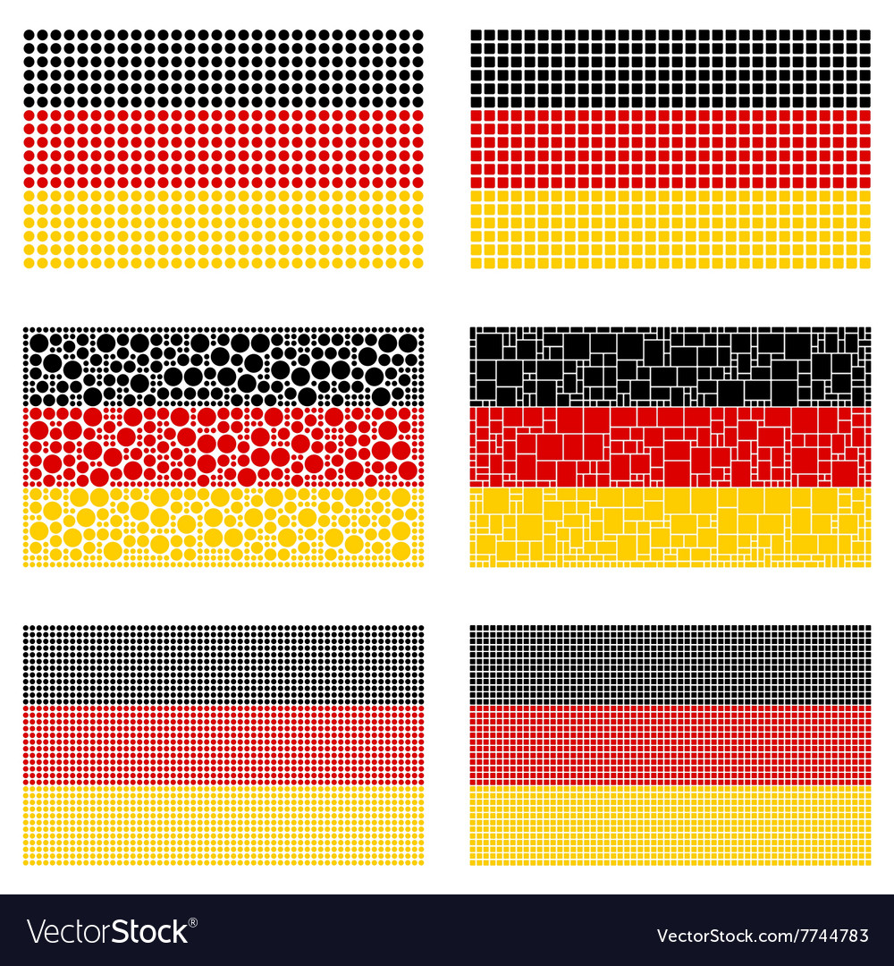 Mosaic germany flag set