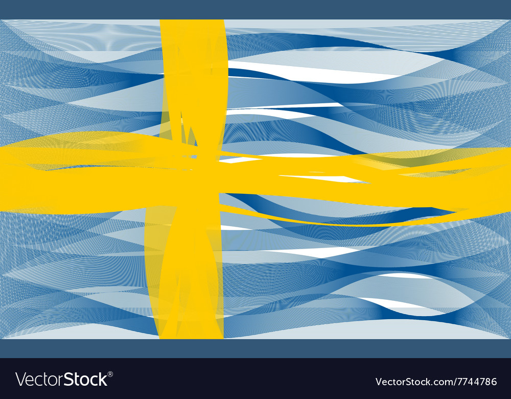 Wave line flag of sweden
