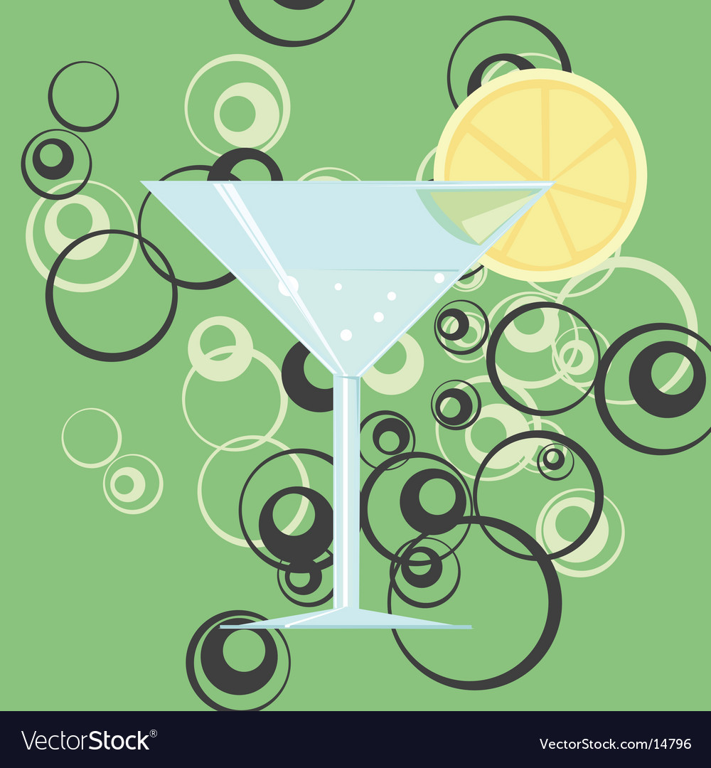 Martini glass vector