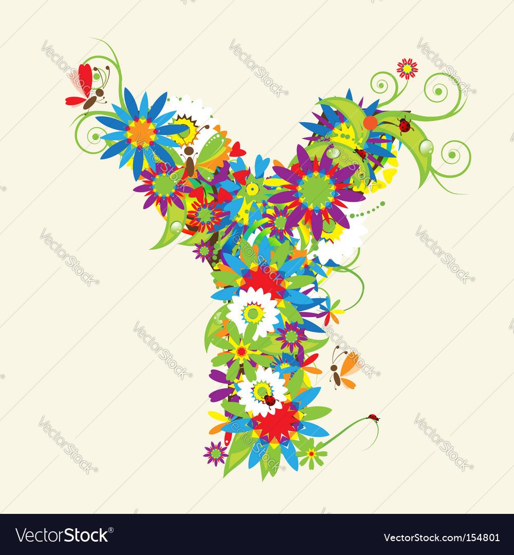 Letter y floral ...Y Letter Design
