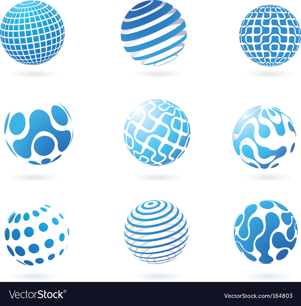 Abstract globes vector