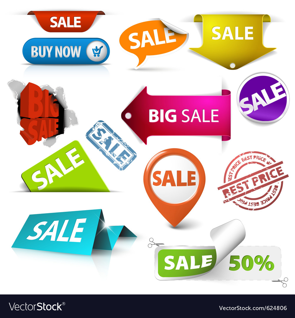 Sale icons vector