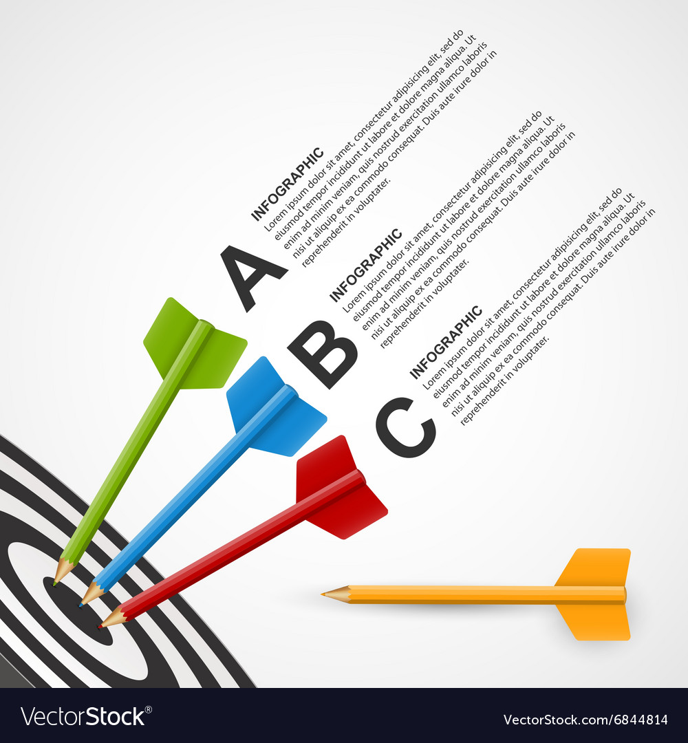 Infographic Ideas infographic template education : Abstract education infographic template target vector by Samarets ...
