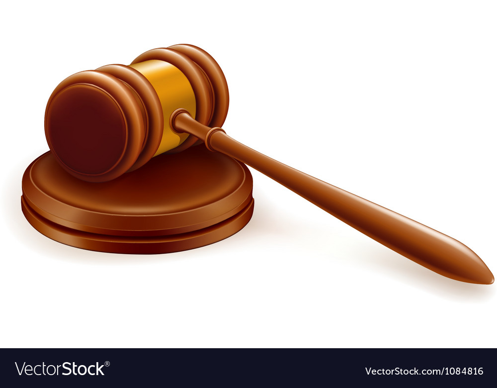 Gavel vector