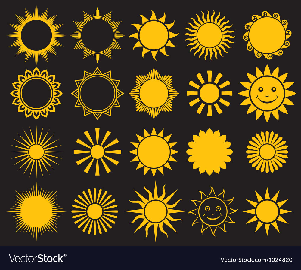 Sunssuns  elements for design vector