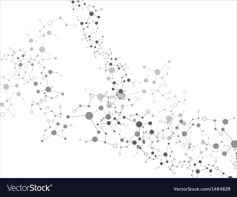 Molecule on the white background vector