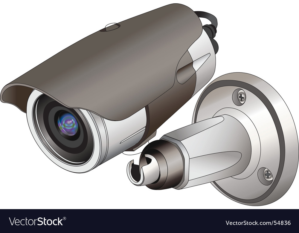 Cctv outdoor vector