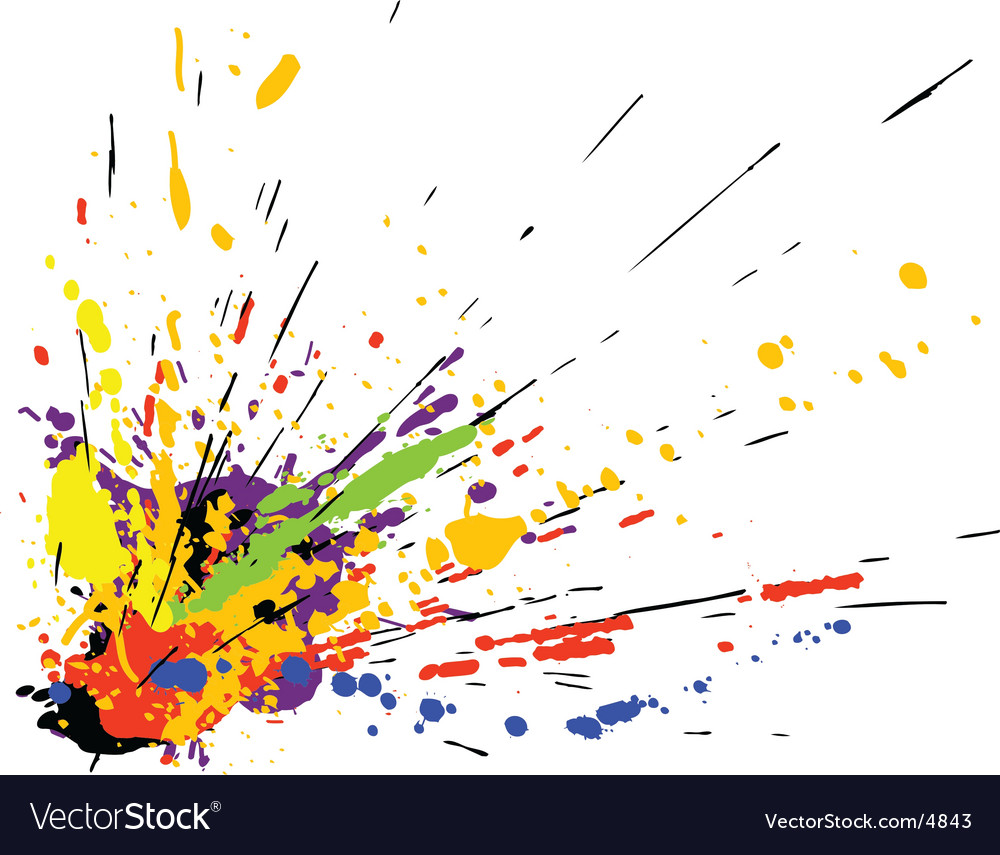 Paint splatter vector by Tawng - Image #4843 - VectorStock: https://www.vectorstock.com/royalty-free-vector/paint-splatter...