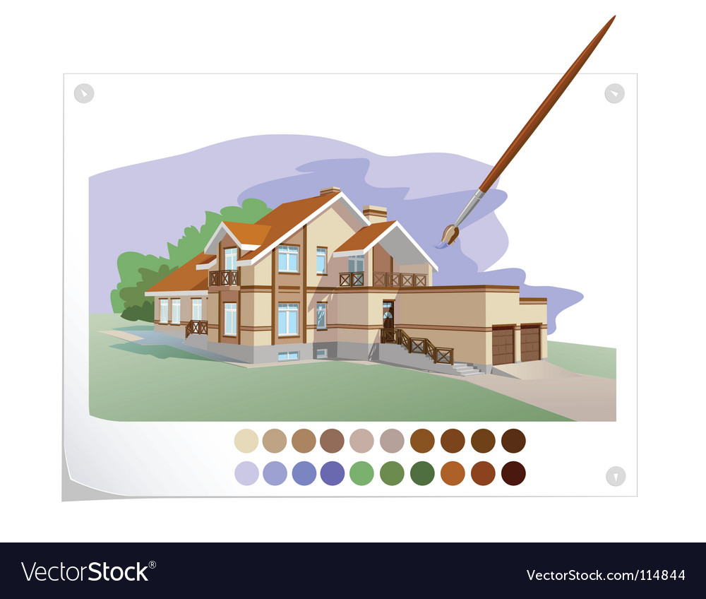 Drawn house vector
