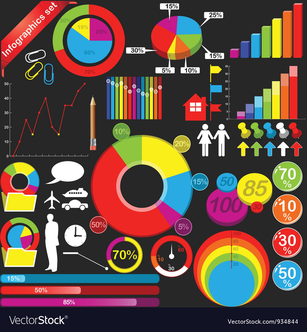 Infographics small vector