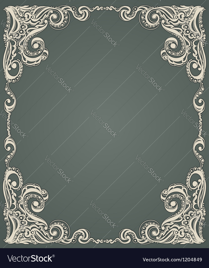 Abstract floral retro pattern vector