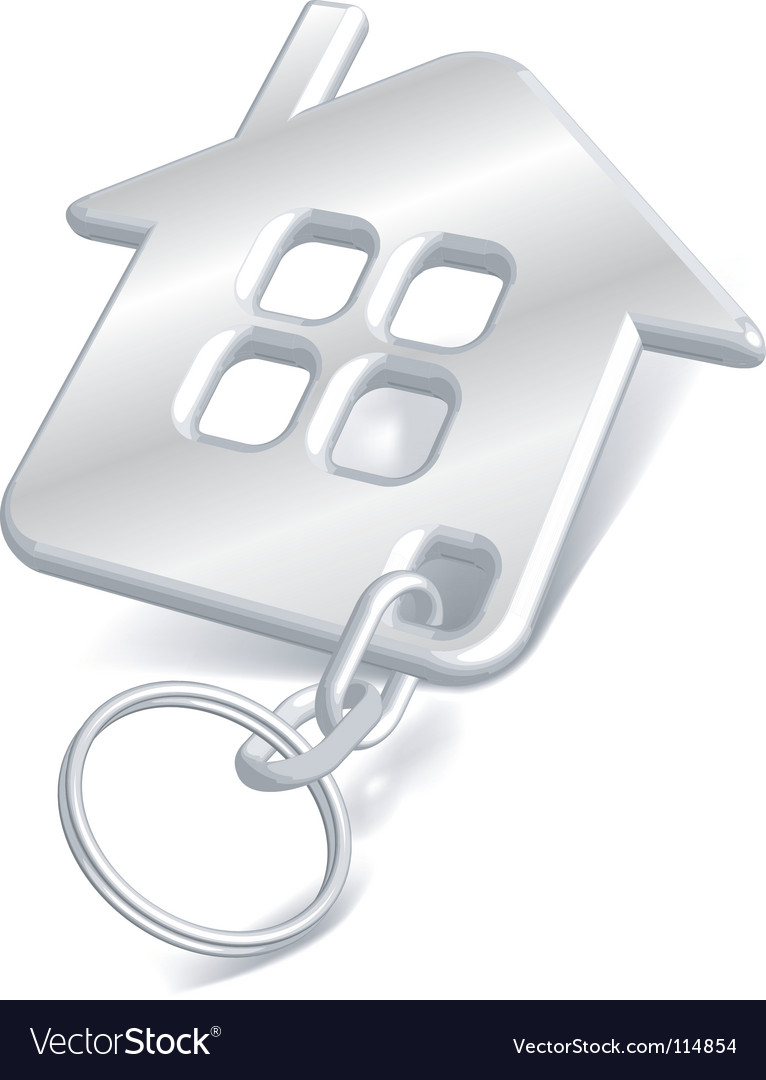 House key chain vector