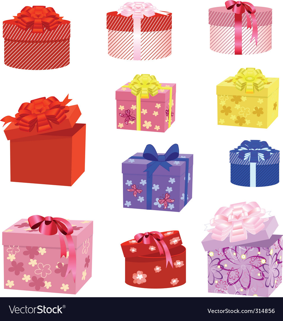 Gift box packs vector
