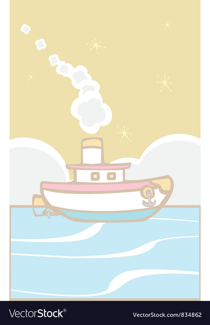 Toy tugboat vector