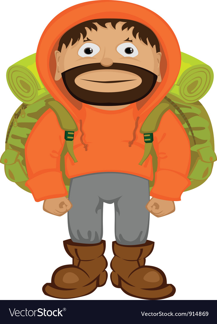 Cartoon tourist vector