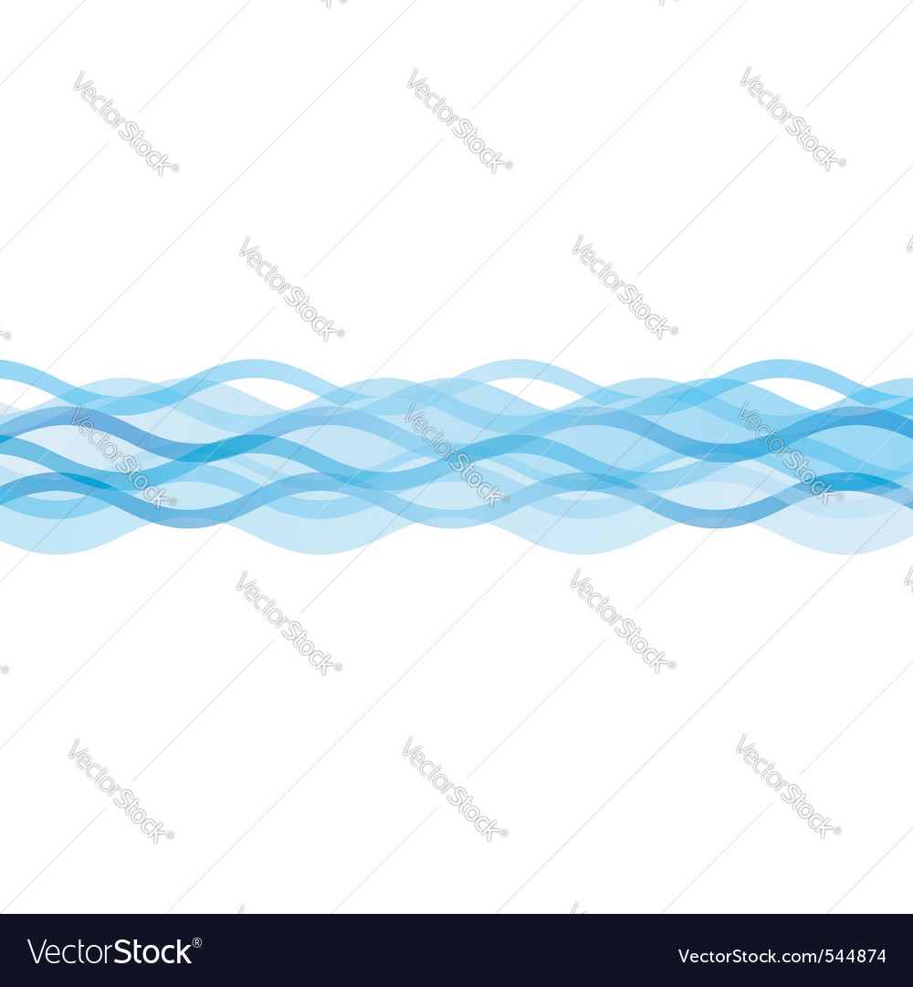 Blue waves vector