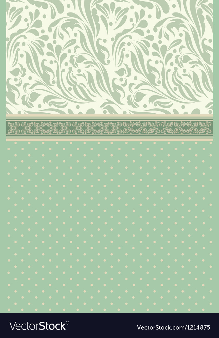 Retro floral greeting card vector