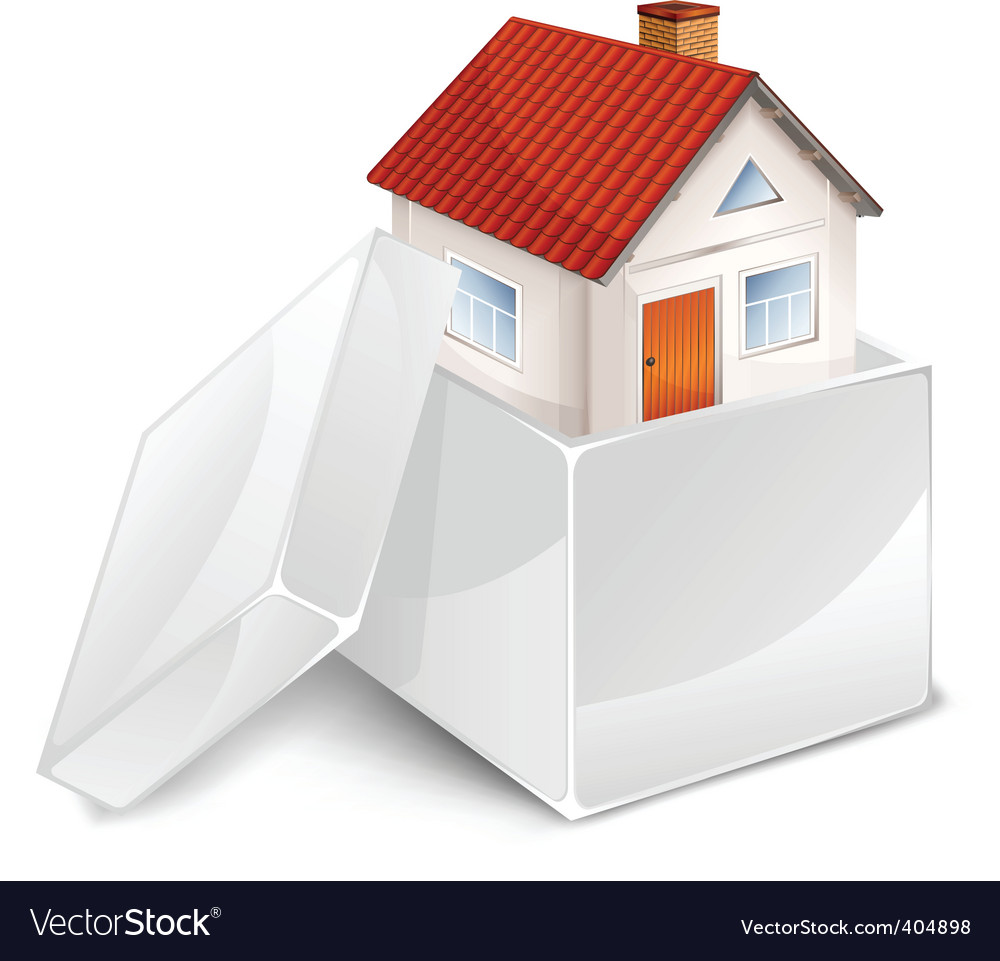 House in box symbol vector