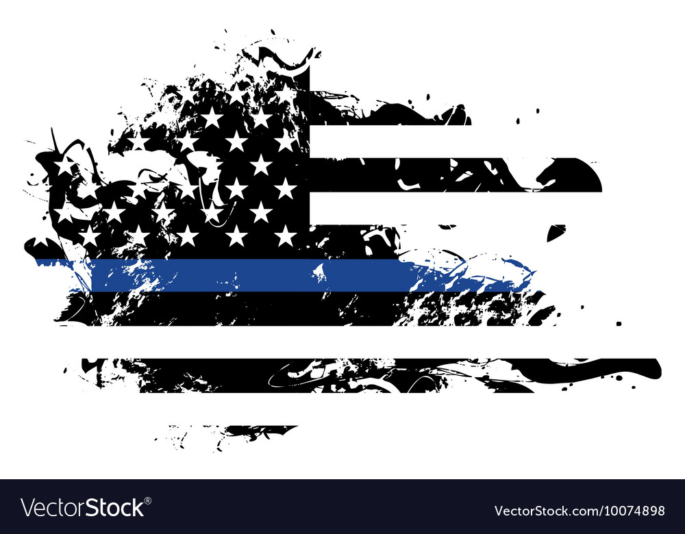 Police Support Grunge Flag Vector By Enterlinedesign