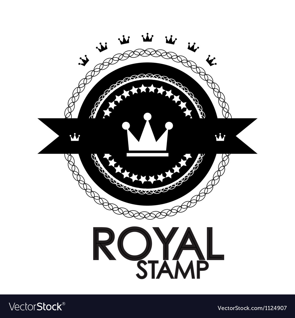 Black retro vintage label tag badge royal stamp vector
