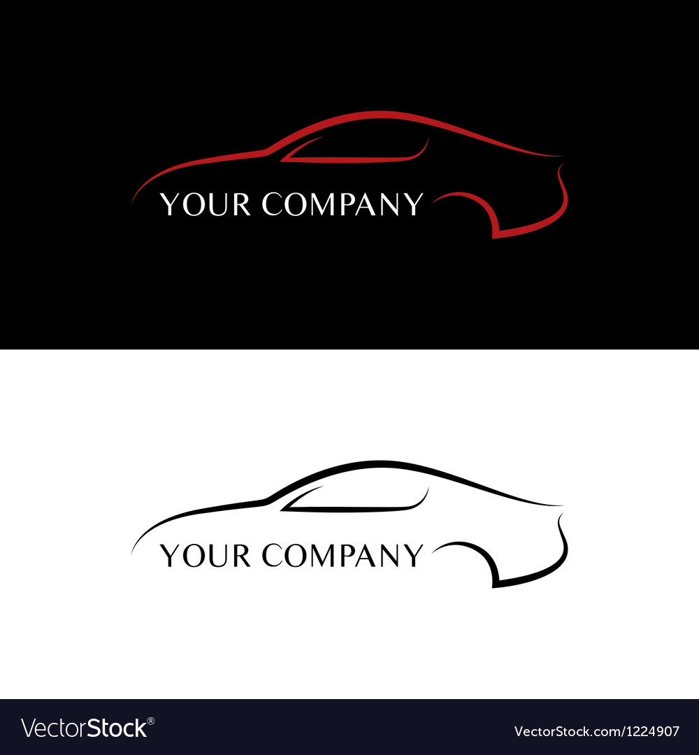 Red and black car logos vector