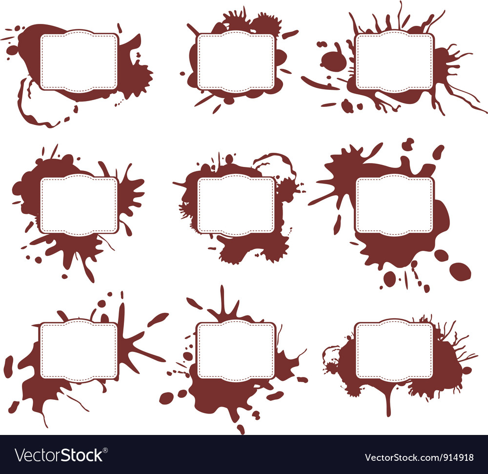 Ink splats frames vector
