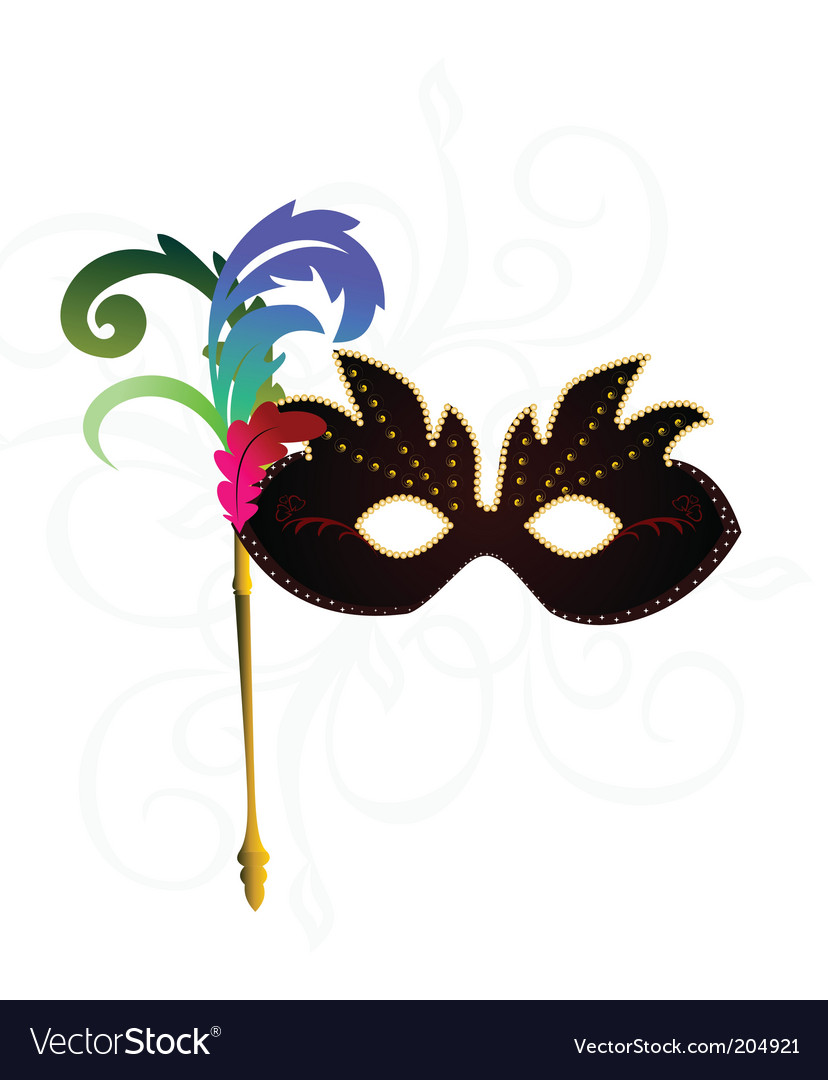 Carnival or theater mask vector