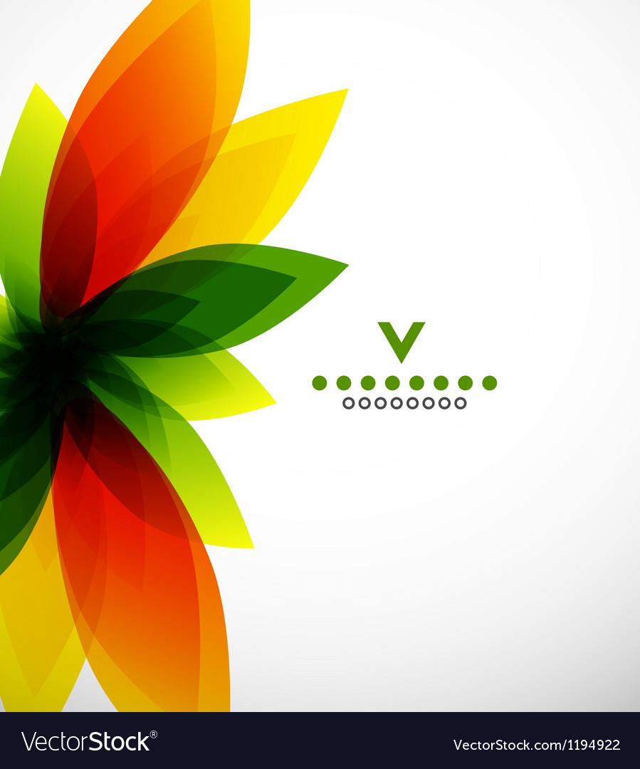 Colorful abstract flower design template vector