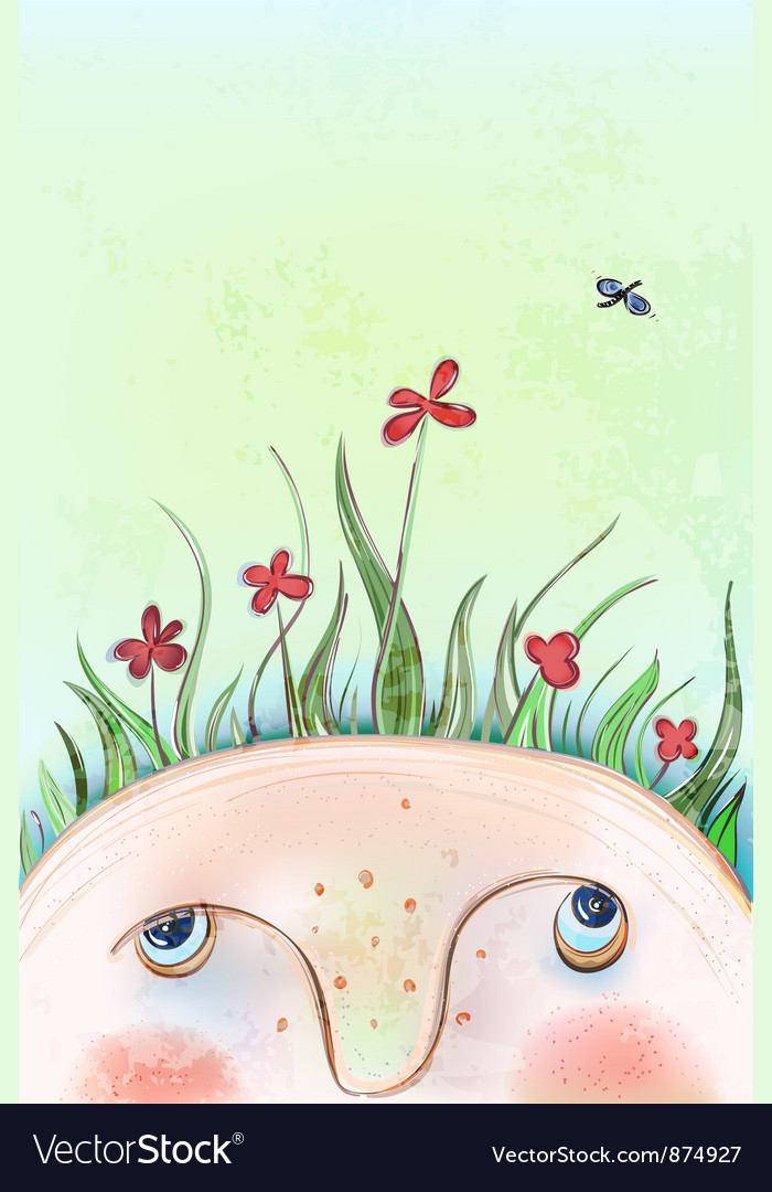 Summer flowers head vector