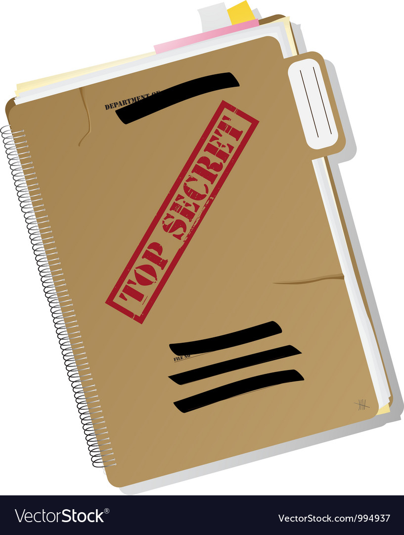 Top secret folder vector