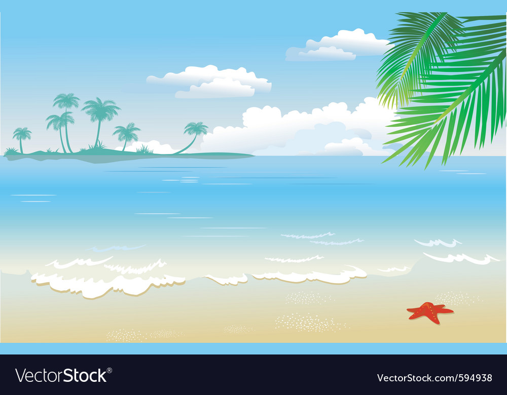 Summertime at the beach vector