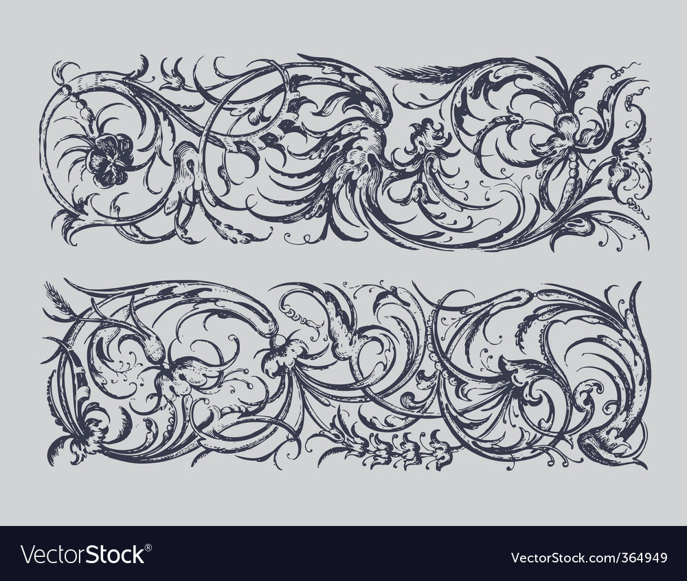 Baroque borders vector