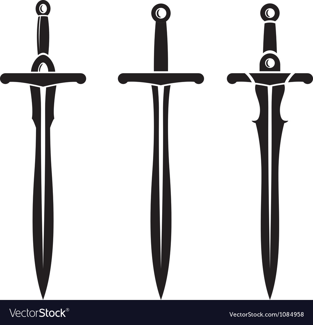 Sword ancient weapon design vector