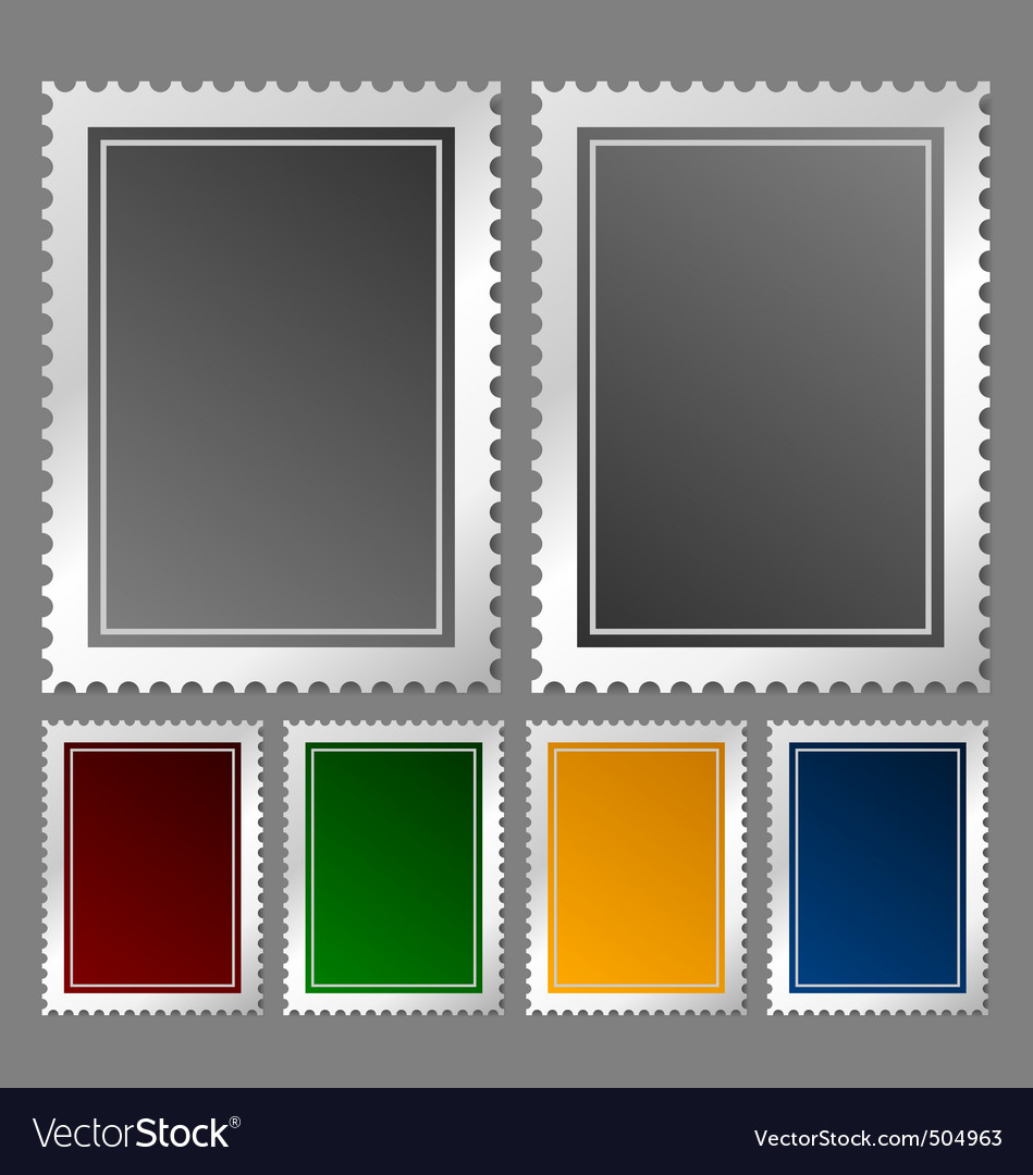 Postage stamp template vector