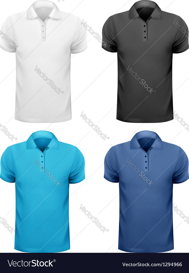 Black and white and color men t shirts design vector