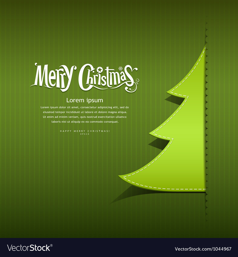 Paper christmas tree vector