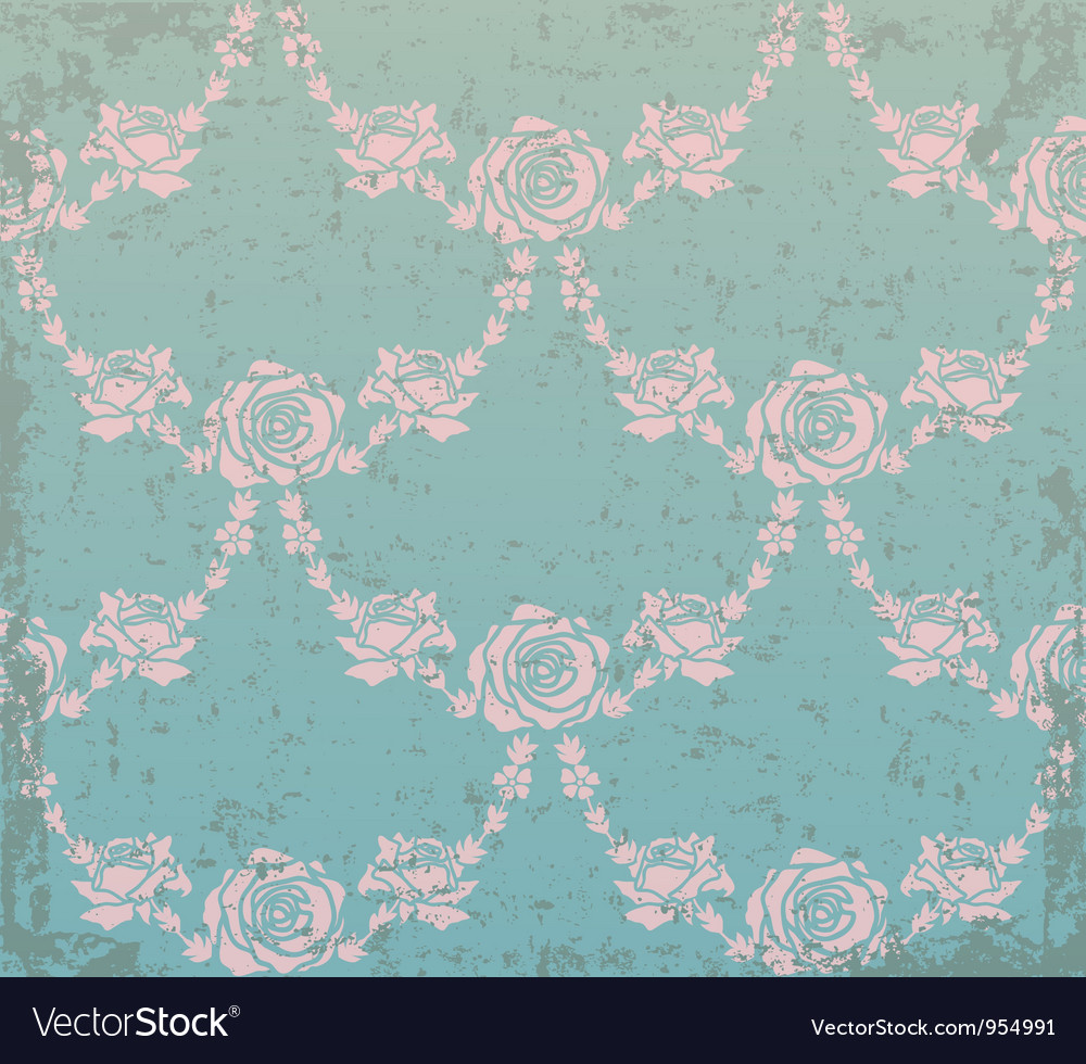 Abstract flower elements on grunge background vector