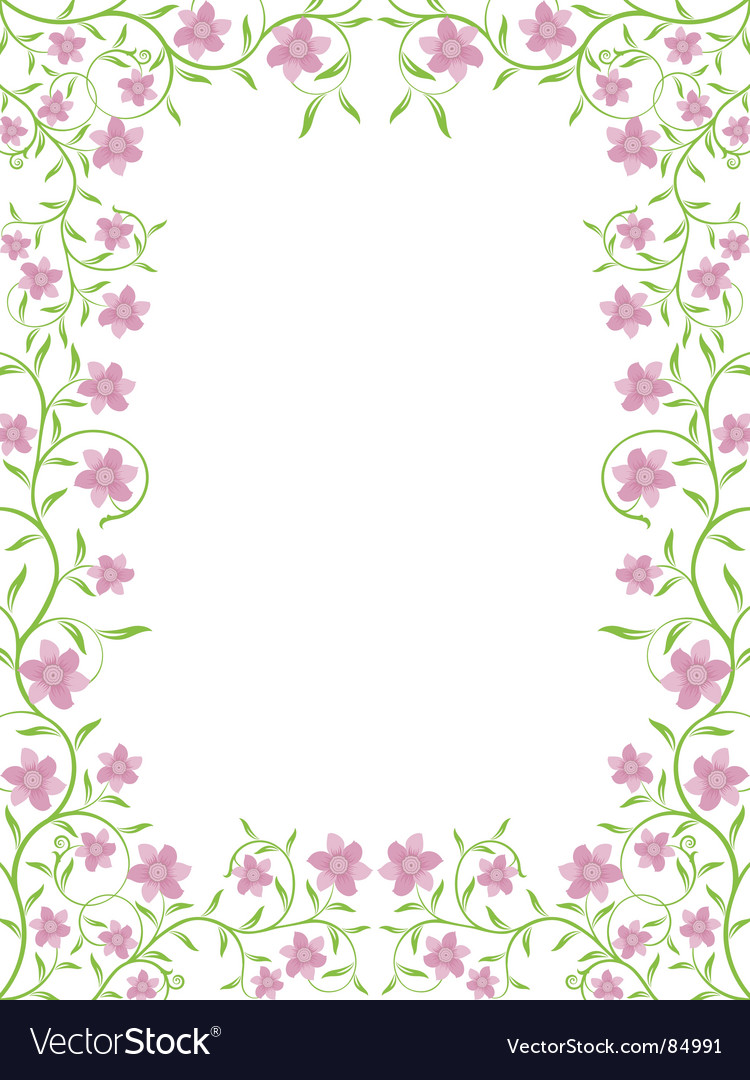 Floral frame vector by AbsentAnna - Image #84991 - VectorStock Vintage Border Vector
